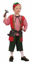 Kids Elf Toy Maker Costume Christmas Toyshop Worker Child Size Medium 8-10