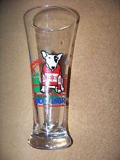 Bud Light Spuds Mackenzie 1987 Anheuser-Busch Chrismas holiday tall beer glass