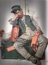ASLEEP ON THE JOB NORMAN ROCKWELL PRINT RR AUGUST 1925