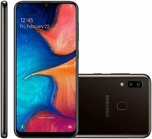 New Samsung Galaxy A20 SM-A205U Black 32GB AT&T T-Mobile Unlocked