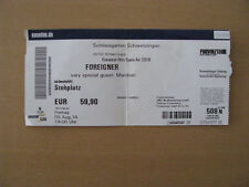 Foreigner & Marillion Greatest Hits Tour 2016 Ticket Schwetzingen 05.08.2016
