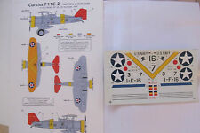 CLASSIC AIRFRAMES DECALC /STICKERS CURTISS F11C - 2   /BFC-2 1/48