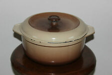 Ancienne Marmite ronde en fonte émaillée - Cocotte - FONTIGNAC - N°24