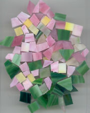 ANTIQUE ROSE MIX Stained Glass Mosaic Scrap Pack, about 100 Hand Cut PIECES