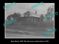 OLD LARGE HISTORICAL PHOTO OF KURRI KURRI NSW, VIEW OF THE OLD RECTORY c1920