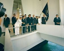President John F. Kennedy visits USS Arizona Memorial in Hawaii New 8x10 Photo