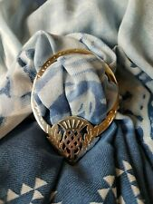 fcc7eab760a1 Chardon Fleur Etain Anneau de Foulard   Écharpe Anneau Coffret Cadeau