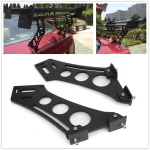 "CNC Rear Wing Trunk Car Spoiler Stand Mount Brackets 10"" Racing Tail Spolier Kit"
