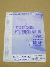 Vintage warren miller surf ski movie poster surfboard surfing RARE Hawaii 1960s