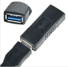 Type A Female To Female USB 3.0 Adapter Coupler Gender Changer Connector Black