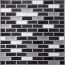 "1 Mosaic Magic Gel Backsplash Wall Tiles - Self Adhesive 9.125"" X 9.125"" grey"