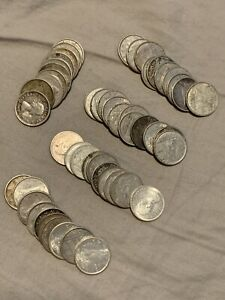 Roll Of 51 Silver Canadian Dimes