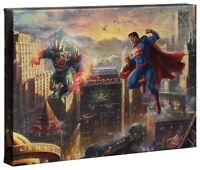Thomas Kinkade Studios Superman Man of Steel 10 x 14 Gallery Wrap Canvas DC Art