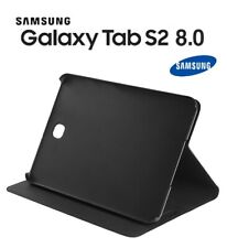 "Samsung Galaxy Tab S2 8"" 8 inch Tablet Platinum SlimStand Folio Case Cover Black"