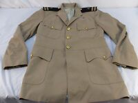Men's VINTAGE NAVY 0-3 OFFICERS KOREAN WW II WAR UNIFORM JACKET COAT 34 R