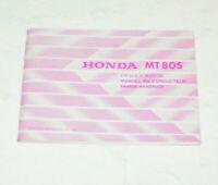 Bedienungsanleitung / Fahrer Handbuch Honda MT 80 S - Ausgabe 1980