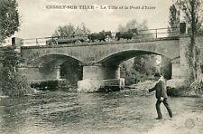 Carte CESSEY SUR TILLE La Tille et le Pont d'Izier Passage d'attelage Pêcheur
