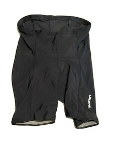 Canari Men's Size Large Padded Cycling Shorts Black MADE IN USA