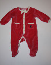 26a49944c8a1 Juicy Couture Baby Infant Girls Pink Velour Pajamas One-Piece 0-3 m EUC