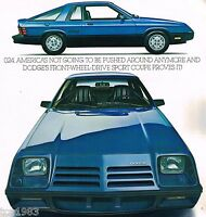 1981 DODGE 024 Dealer Sales Brochure/Catalog w/Color Chart: DeTOMASO, SPORT, O24
