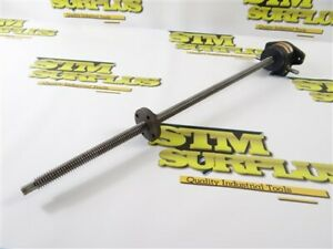 """NORTON LEAD SCREW ASSEMBLY RIGHT ANGLE DRIVE 5/8"""" ACME THREAD X 22"""" LENGTH"""