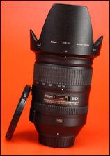 Nikon AF-S 28-300mm f3.5-5.6 G ED VR AF Zoom Lens + Front/ Rear Lens Caps & Hood
