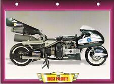 CARTE FICHE TECHNIQUE MOTO  /  BOOST PALOUSTE . 1996 .   NEUVE