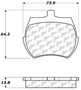Disc Brake Pad Set-Disc Front Centric 102.00610