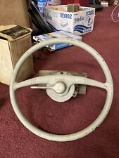 """Vintage Boat Kainer Steering Wheel 15"""" with Bracket and Pulley"""