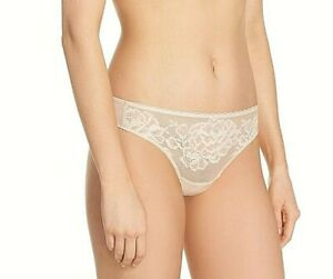 Details about  /NWT NATORI SHEER STRETCH FLORAL LACE THONG PANTIES 150050 BEIGE CAFE