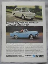 1966 Sunbeam Alpine & Imp Sport Original advert No.1