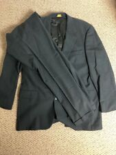 Brooks Brothers Suit 43L 40 X 30 Brooksease Charcoal Grey Wool 2 Button