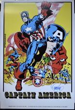 CAPTAIN AMERICA Poster Marvelmania 1970 Red Skull HAND SIGNED Jim Steranko w COA