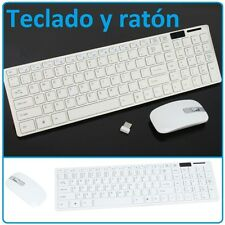 TECLADO Y RATON INALAMBRICO BLANCO PARA MAC PC WINDOWS TORRE WIRELESS GAME SLIM