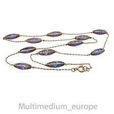 Collier Halskette Glas perlen geschliffen irisierend necklace indescent glass
