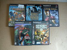 PS2 - 5 GAMES - IRON MAN - GHOST RECON -2 TOWERS - TRIBES - EVER GRACE - VG
