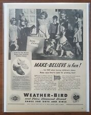 1943 Weather Bird Childrens Kids Shoes Dog Show Our Gang Photo Vintage Print Ad