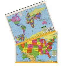 Universal Map US & World Notebook Map