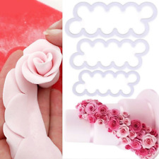 3er Rosen Ausstecher Ausstechform 3D-Blumen Muffins Keksen Fondant Tortendeko