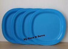 "Tupperware Microwave Reheatable Plates 8"" 1 Set  4  New"