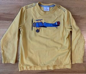 Hanna Andersson Shirt Size 130 (8) Blue w/ Airplane Applique Classic!