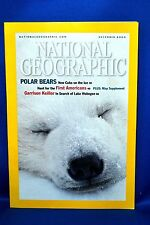 National Geographic Magazine DECEMBER 2000  POLAR BEARS the first Americans