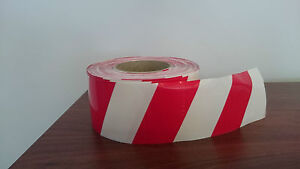 Red/White Barrier Tape, 75mm x 100m, Carton of 16