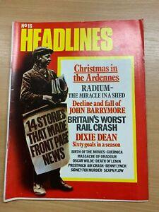 HEADLINES MAGAZINE #16 (DEC 1972) - HOW DID LENIN DIE? / OSCAR WILDE