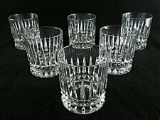 Rare Antique BACCARAT Finest Flawless Crystal 6 x Whiskey Tumbler w/ Deep Cut