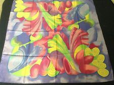 Ladies Scarf, Multicoloured floral, Made in Italy by Castellani