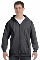Hanes Men's Ultimate Cotton Pouch Pocket Long Sleeve Full Zip Hoodie. F280