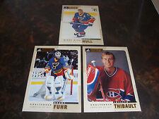 1997-98 Beehive Hockey---Lot Of 3---5x7---#6 Hull--#32 Thibault--#44 Fuhr