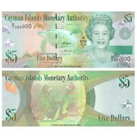 Cayman Islands 5 Dollars 2010 Prefix D/1  P-39 Banknotes UNC