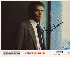 CLINT EASTWOOD SIGNED 8x10 PHOTO AUTHENTIC AUTOGRAPH TIGHTROPE DIRTY HARRY *LOOK